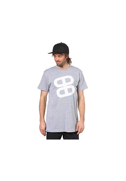 PLANET SPORTS Icon Print S/S Slimfit T-Shirt heather grey/white