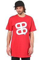 Icon Print S/S Slimfit T-Shirt red/white