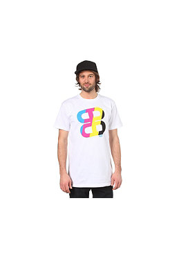 PLANET SPORTS Icon Print S/S Slimfit T-Shirt white/CMYK