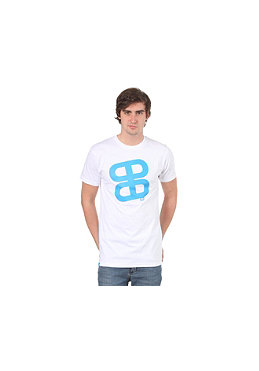 PLANET SPORTS Icon Print S/S Slimfit T-Shirt white/cyan