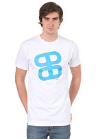 Icon Print S/S Slimfit T-Shirt white/cyan