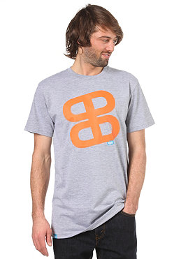 PLANET SPORTS Icon Print S/S Slimfit T-Shirt heather grey/orange
