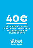 PLANET SPORTS Onlineshop-Gutschein 40 Euro one colour