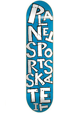 PLANET SPORTS Scribble blue/white Deck 8.125