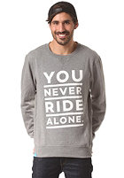 PLANET SPORTS YNRA Font Crew Sweat heather grey - white