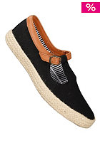 POINTER Womens Corey Canvas Soft Full Grain Suede black/espadrille