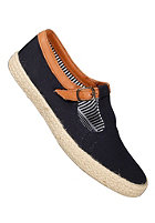 POINTER Womens Corey Canvas Soft Full Grain Suede navy/espadrille
