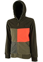 PROTEST Kids Robson Hooded Zip Sweat dark olive