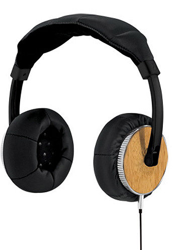 Master Blaster Headphones all black/light wood