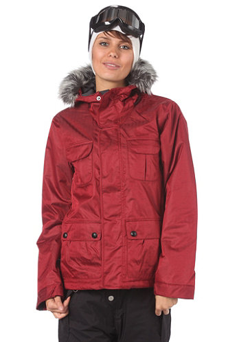 Womens Safari Jacket crimson-b