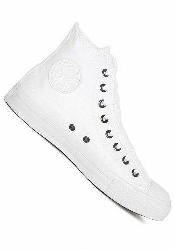 All Star Hi white monochrome