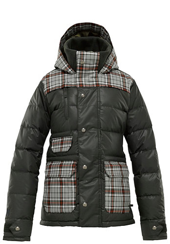 Womens Dandridge Down Jacket 2012 resin groupie plaid