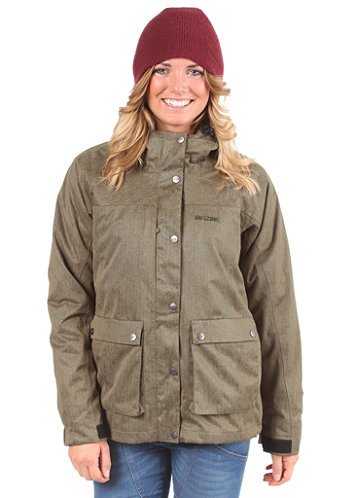 Womens Path Hooded Jacket deep olive/woody