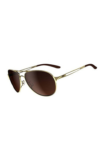 Womens Caveat polished gold/dark brown gradient
