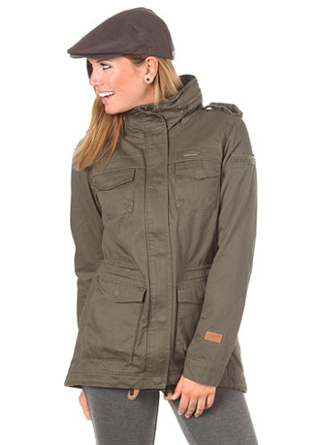 Womens Laika Woven Jacket endor green