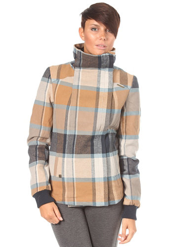 Womens Beam A Woven Jacket mustard checks