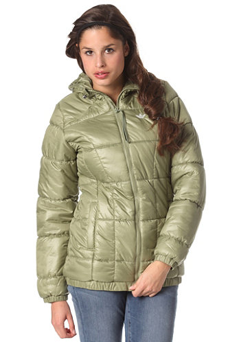 Womens Long Padded Jacket shift olive