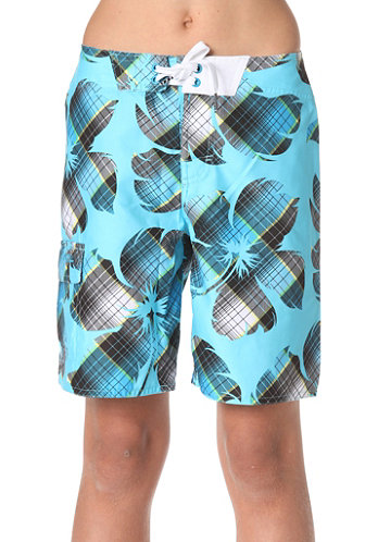 KIDS/ Bigflowercheck Boardshorts blue/aop