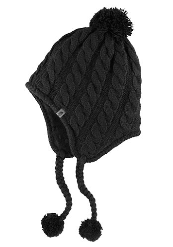 Womens Fuz Earflap Beanie tnf black