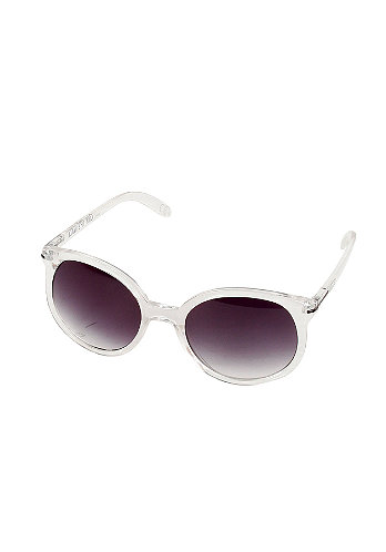 Womens Round Out Sunglasses clear