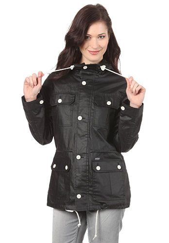 Womens Canny Jacket Cotton Dull black/flame