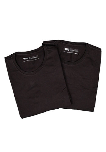 2 Pack Crew Neck S S T Shirt black black 59
