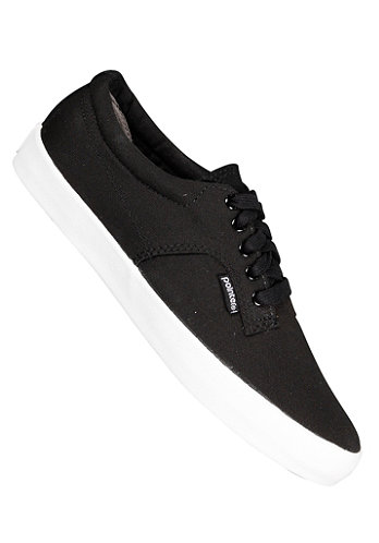 A.F.D. Canvas Suede black/white
