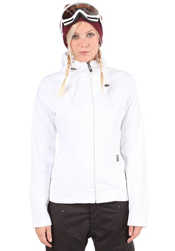 Womens Cute Hooded Zip Sweat white