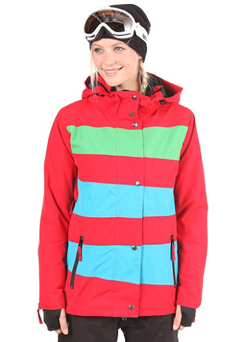 Womens Mia Jacket 2012 red/electric blue/kelly green
