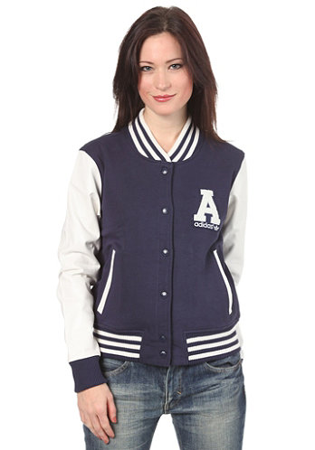 Womens Letterman Jacket marine/running white