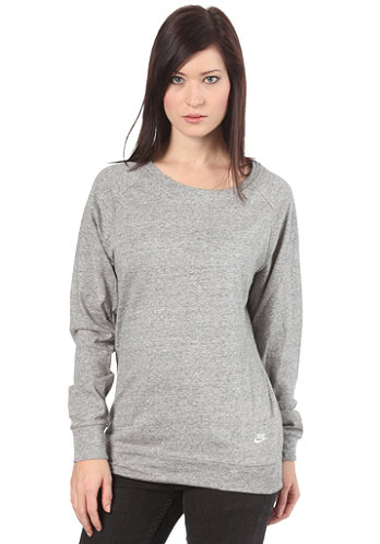 Womens Time Out Crew Longsleeve dark heather/sail