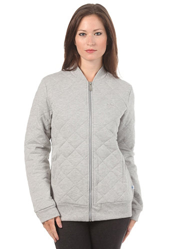 Womens Quilted Tracktop Jacket medium grey heather