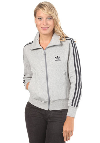Womens Firebird Tracktop Hooded Jacket medium grey heather/dark navy