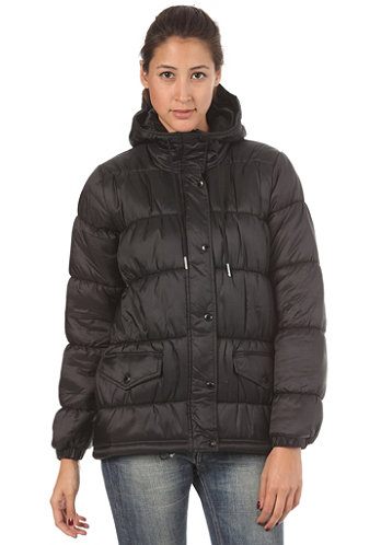 Womens Padded Parka Jacket black