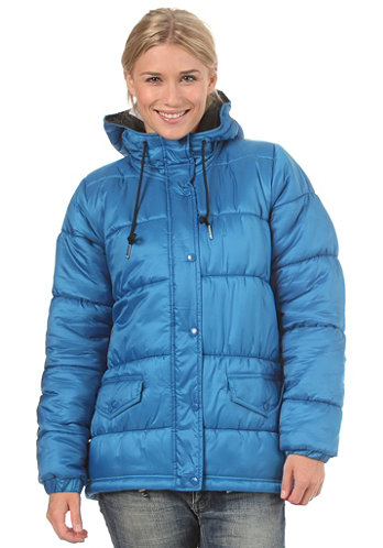 Womens Padded Parka Jacket dark royal