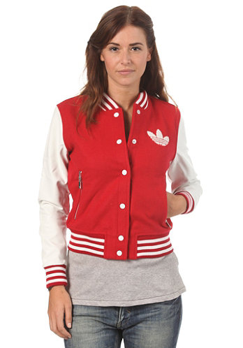 Womens Coll Jacket univer red/run white
