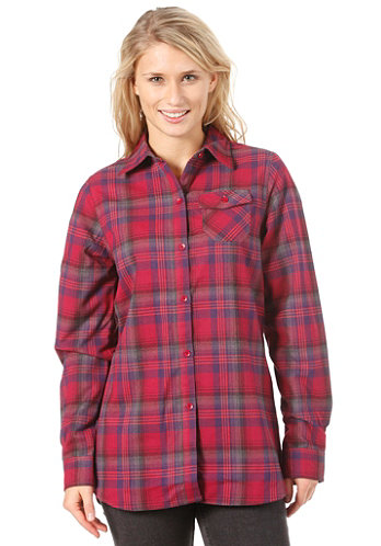 Womens Player Flannel Shirt 2012 garnet prismatic plaid
