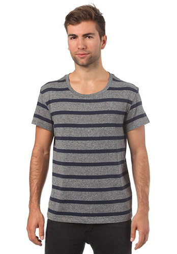 Alex Stripe S S T Shirt antwar dark blue