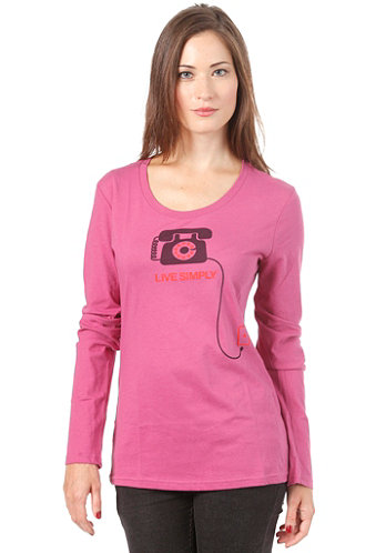 Womens Live Simply Tele L/S T-Shirt rubellite pink