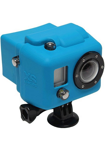 Hooded Silicon Cover GoPro blue