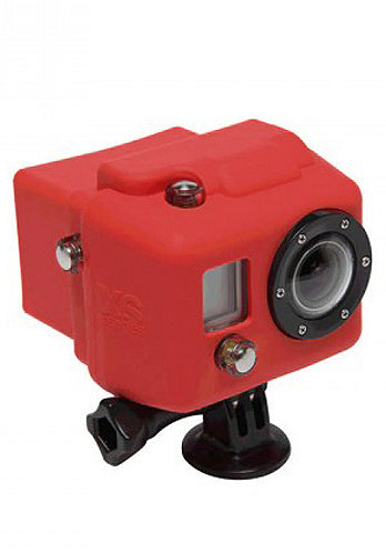 Hooded Silicon Cover GoPro red