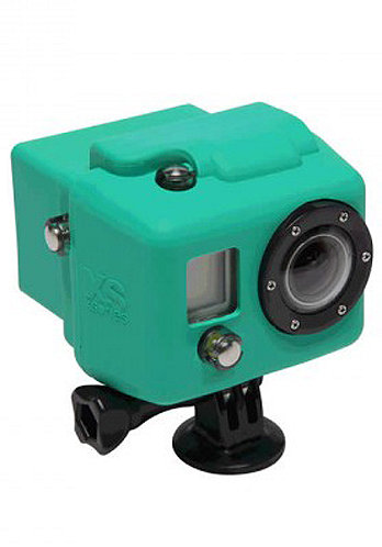 Hooded Silicon Cover GoPro green