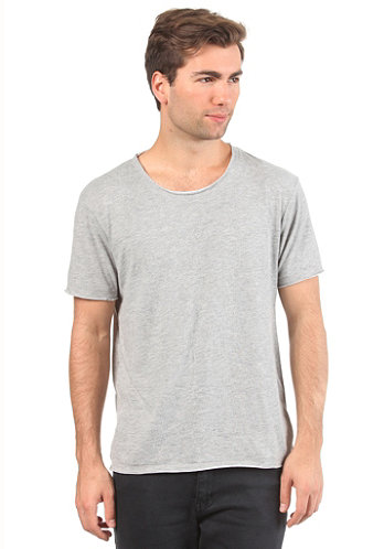 Alvaro S S T Shirt light grey melange