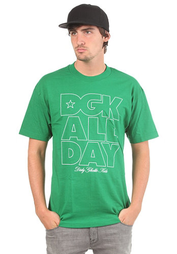 All Day Outline S S T Shirt kelly green