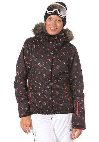 Womens Jet Ski JK Jacket abstract ditsy floral black