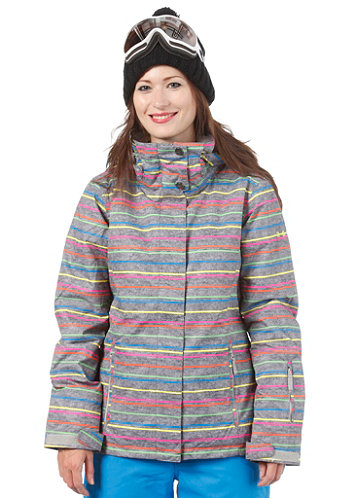 Womens Jetty Jacket new roxy stripe