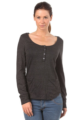 Womens Glacier Henley L/S Shirt jet black
