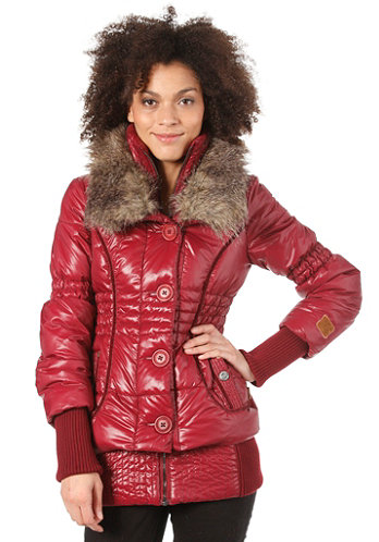 Womens Iff Jacket wine red