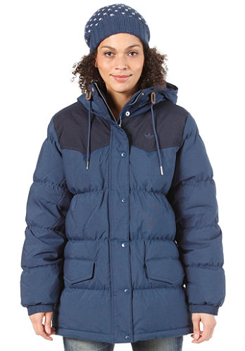 Womens Down Jacket solid blue