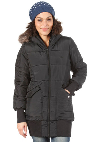 Womens Padde Slim Coat black